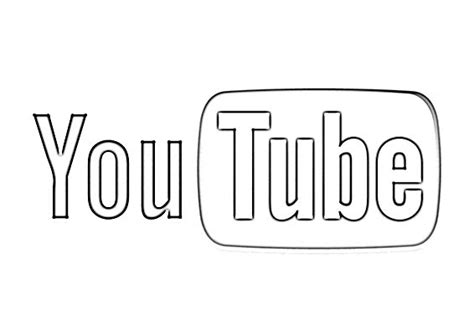 Coloring Page Youtube | youtube logo sketch image sketch