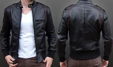 pin jaket kulit korea desain genuardis portal  pinterest