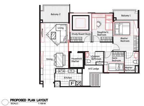 5 Room Floor Plan | hdb interior design singapore