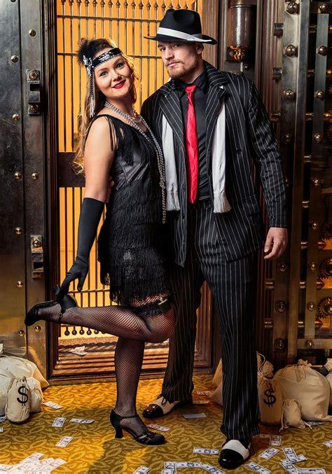 black fringe  flapper costume