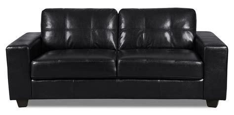 costa sofa costa leather look fabric sofa black united furniture