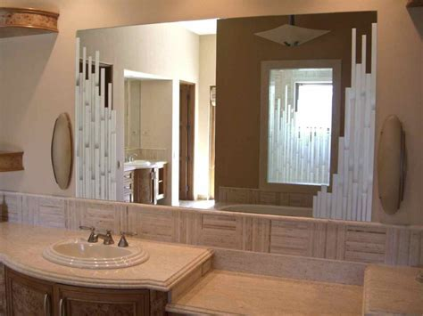 Etched Bathroom Mirrors Decorative Mirrors With Custom Etched Carved Designs Sans Soucie Glass