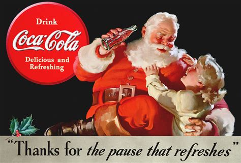 Coca Cola Santa Claus 4797 by Child With Santa 1938
