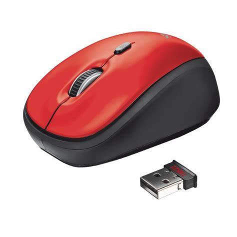 Mouse Wireless Di Pasaran yvi mouse wireless trust rosso 19522 ufficio