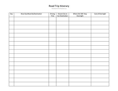 Trip Itinerary Template Free Download Edit Fill Create And Print Wondershare Pdfelement Trip Itinerary Template
