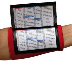 wrist coach x200 multi page playbook wristband