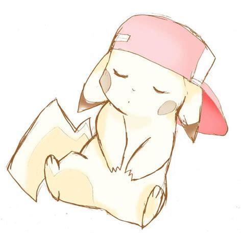 cute pikachu cute pikachu with hat by pikachu in ash s hat gotta catch em all