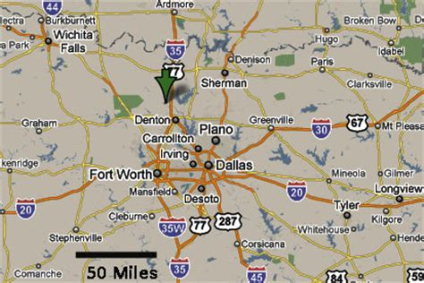 sanger texas map sighting reports 2010