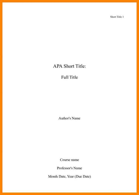 title page exle research paper research paper title page apa style