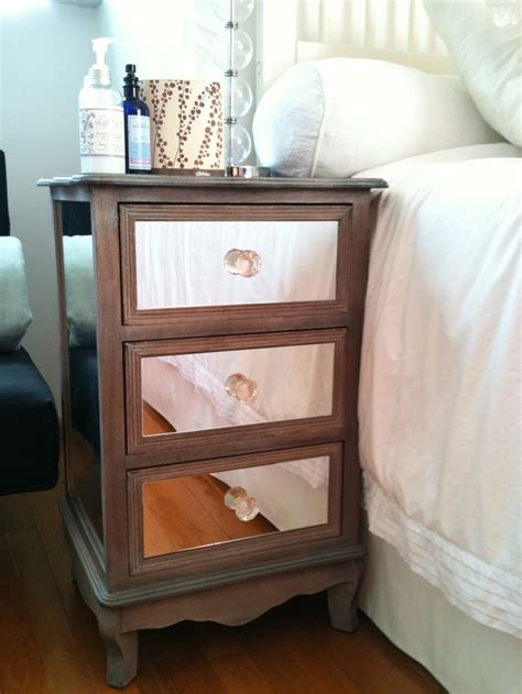 Affordable Mirrored Nightstand 17 Best Images About Bedroom Furniture Diy On Mirrored Nightstand Dresser Makeovers