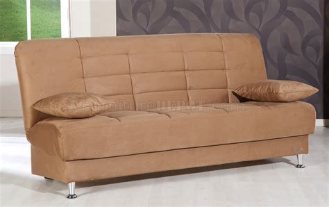 brown microfiber couch vegas rainbow brown sofa bed in microfiber by sunset