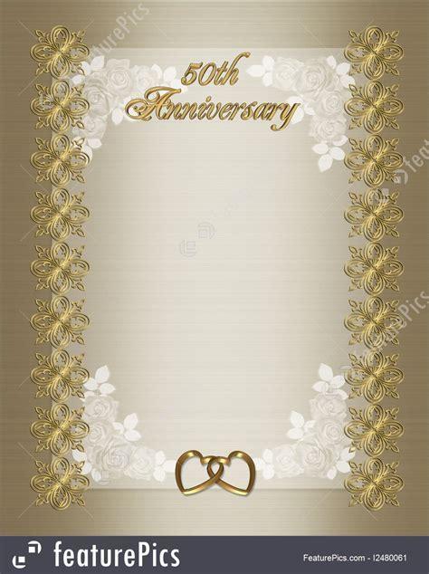Illustration Of 50Th Wedding Anniversary Invitation Template