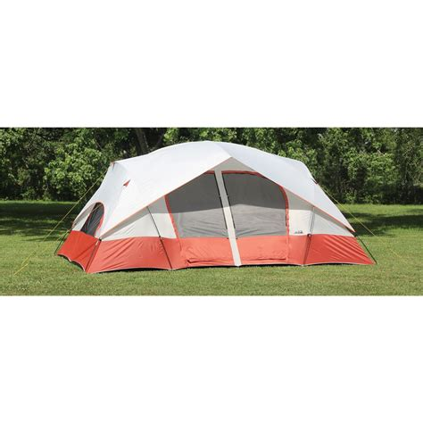 Cabin Dome Tent by Texsport 174 Bull 2 Room Cabin Dome Tent Apricot