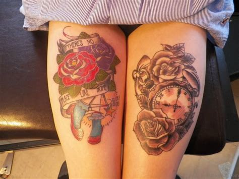 tattoos for thighs 50 top class clock tattoos on thigh