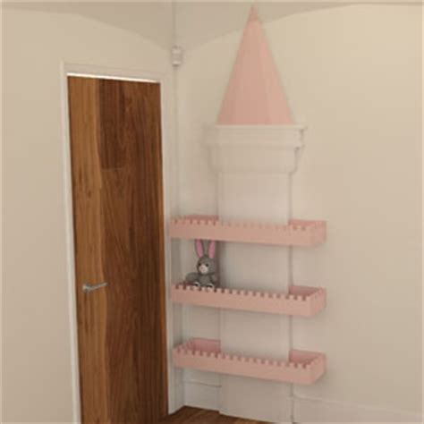 child s castle design bedroom unit by brian hayes luxury princess castle shelving unit furniture