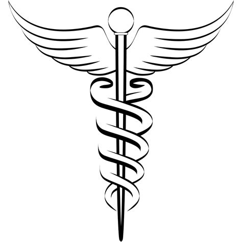 caduceus art clipart best
