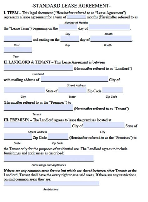 lease agreement template word free top 5 free lease agreement templates word templates