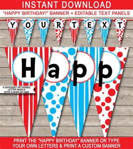 happy birthday banner template dr seuss invitations futureclim info