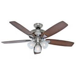 lowes ceiling fans flush mount shop winslow 52 in brushed nickel downrod or flush
