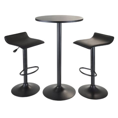 Winsome 2 Pc Swivel Stool Set by Winsome Wood Obsidian 3 Pub Set With Table And