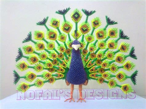 3d origami royal peacock tutorial mohammad nofal album peacock 3d origami art 3d