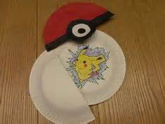 How To Make A Paper Pokeball That Opens - opening pokeballs made from paper plates and construction