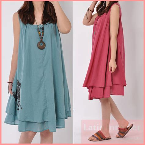 sling linen maternity dress comfortable clothes for