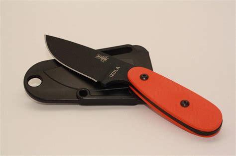esee izula scales esee knives izula black neck knife with custom orange