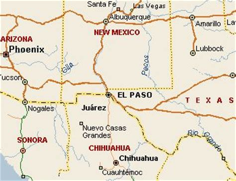 texas el paso map el paso maps and texas maps on