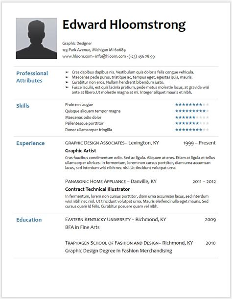 download resume templates lifespanlearn info
