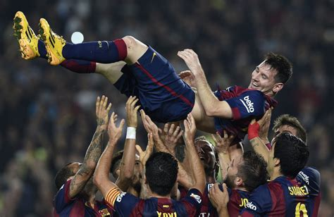 soccer record lionel messi s hat trick shatters league s all