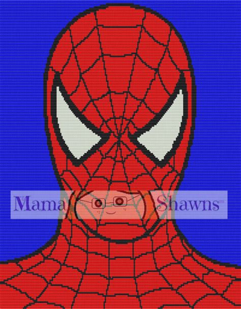 spiderman pattern download free spiderman inspired graphghan written pattern word chart