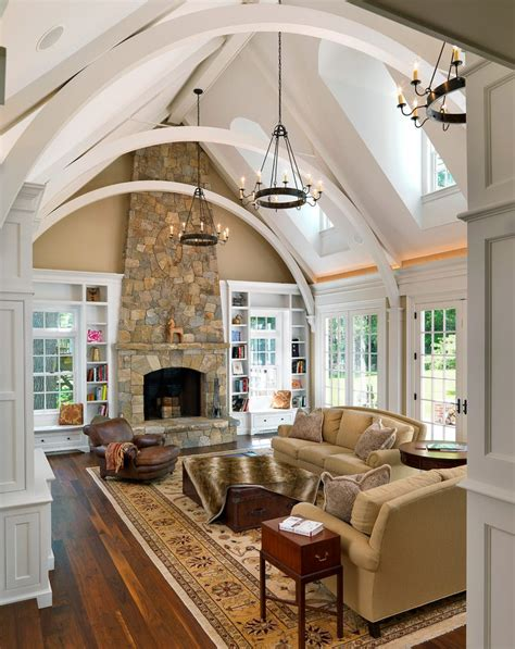 floor to ceiling l fireplace vaulted ceiling nurani org