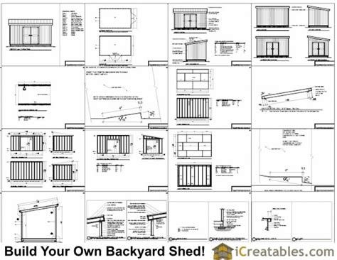 10x16 lean to shed plans icreatables