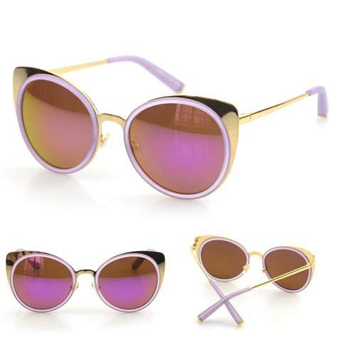 Cat Ear Sunglasses mirrored cat ear sunglasses metal shades