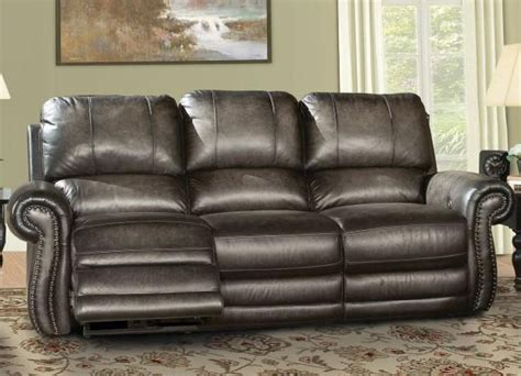 parker house sofa thurston power dual reclining sofa in shadow leather by