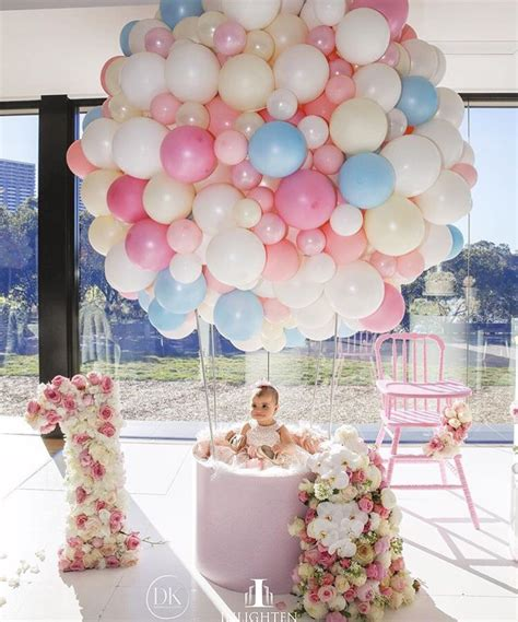 cute themes for baby first birthday fab baby girl s first birthday up up and away p a r t
