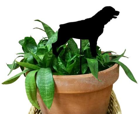 rottweiler ornaments rottweiler ornament or plant stake metal