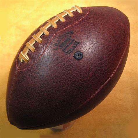 Handmade Leather Football - leather handmade footballs the green