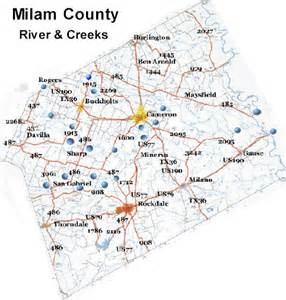 milam county map river map