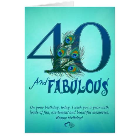 40th birthday card template 40th birthday template cards zazzle
