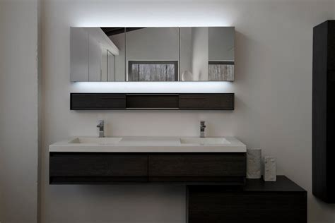 Modern Led Bathroom Mirrors 60 Quot Vanity With Optional Led M Collection Modern