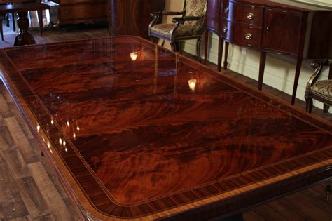 extra large dining room table high  american finished