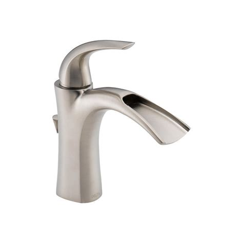 Delta Bathroom Sink Faucet by Delta 15708lf Ss Nyla Stainless 1 Handle Single Watersense Bathroom Sink Faucet Drain