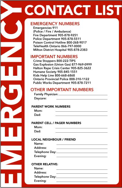 emergency contact list template summer is almost here tips on leaving for vacation