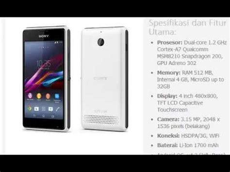 Hp Sony Xperia E1 Dual Harga Hp Sony Xperia E1 Dual