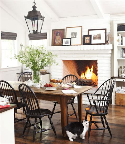Kitchen Dining Room Fireplace Cottage The Inspired Room