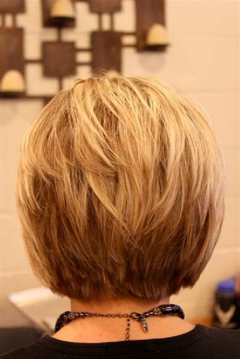short haircuts for fine hair front and back short layered bob hairstyles front and back view