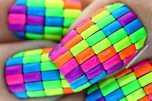 neon color block neon color block nails pictures photos and images for