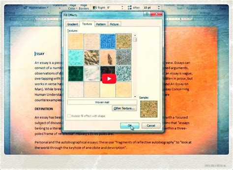 how to change page background color in word youtube
